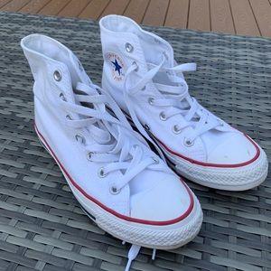 White converse high tops
